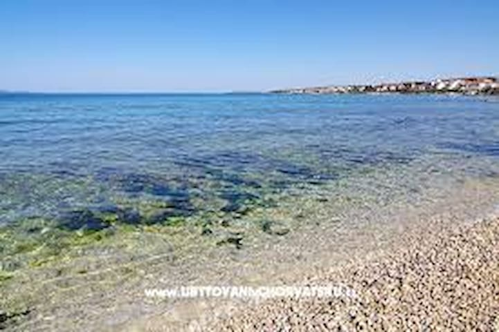in a quiet position,across the sea....DIKLO-beautiful scenery,area and a place where the apartment is located