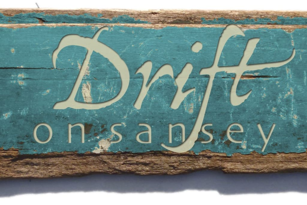 Inspired by our driftwood and other beach finds