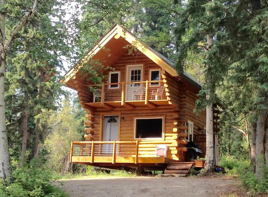 Cozy alaskan log cabin cabins for rent in fairbanks for Alaska cottage
