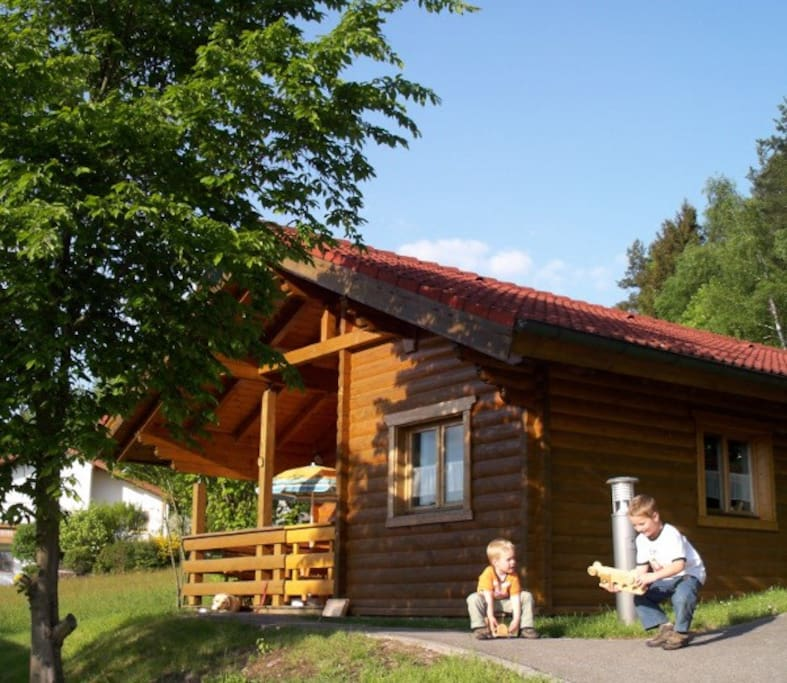 log house in the bavarian forest cabins for rent in stamsried bavaria germany. Black Bedroom Furniture Sets. Home Design Ideas