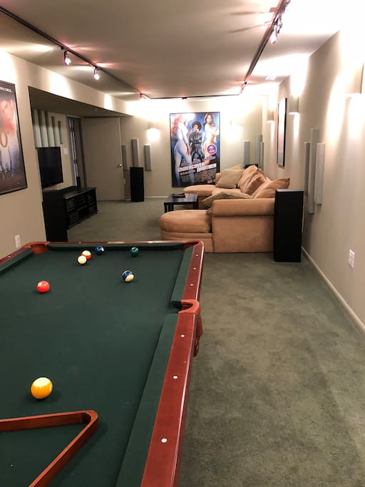 Have a friendly game of pool or cover over the pool table and play ping-pong.