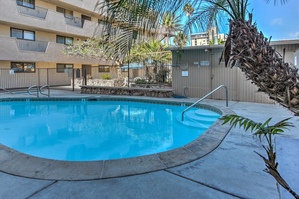 The community features a pool and hot tub for a refreshing afternoon dip or a late night soak.