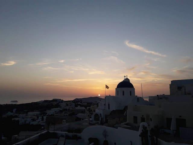 Sunset from  Chez eRose