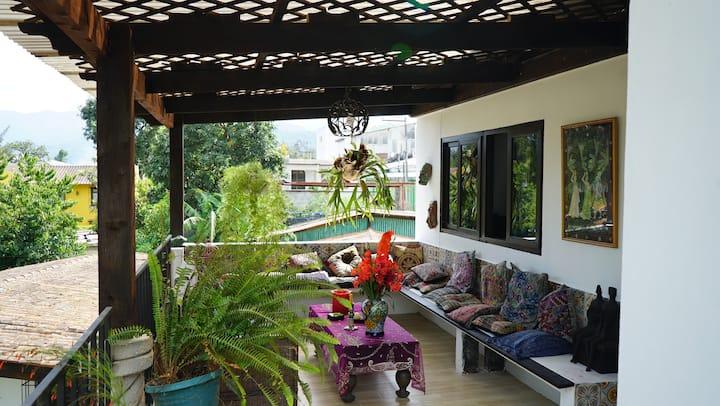 Bello apartamento en las afueras de  Antigua