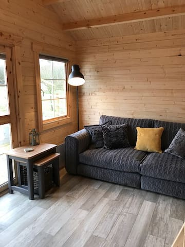 Cosy wood cabin in the countryside