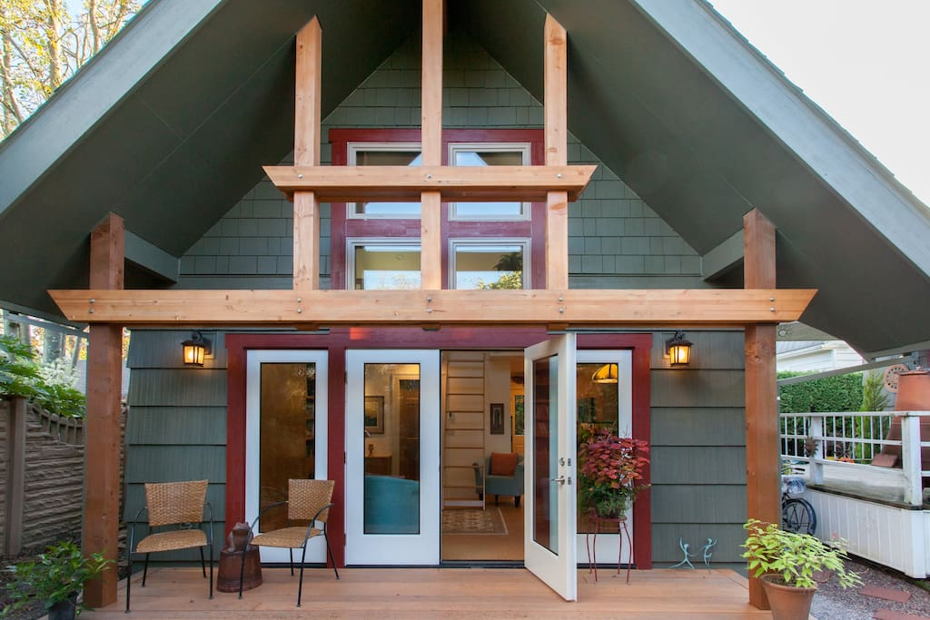 Our studio was designed by a Portland architect, who included a number of intriguing features.