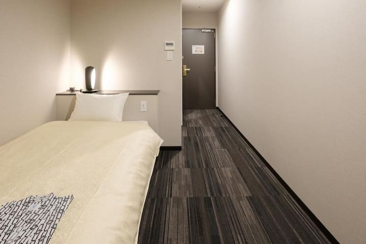 Single Room one stop away from Kansai Airport with Buffet Breakfast