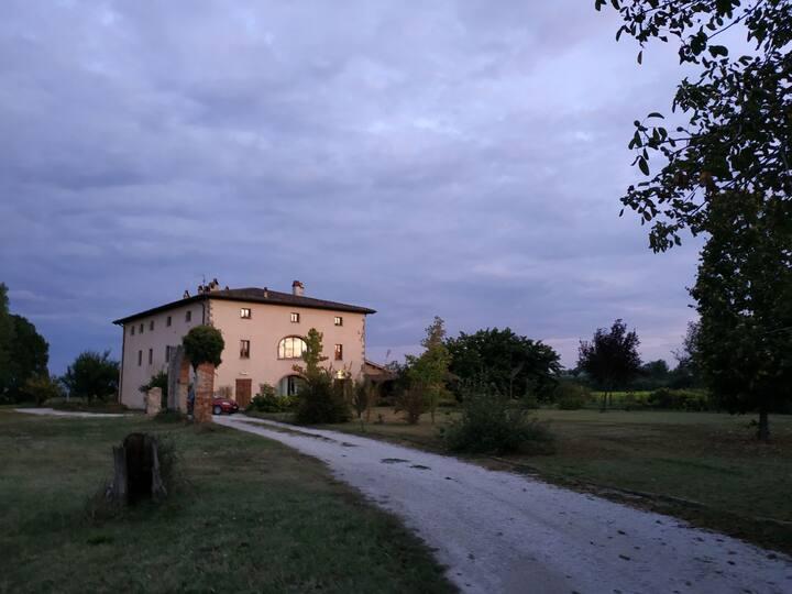 Campagna toscana, vicino al fiume Tevere. Stanza 1
