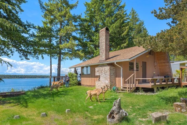 Social Distance at Secret Island Beach Cabin.