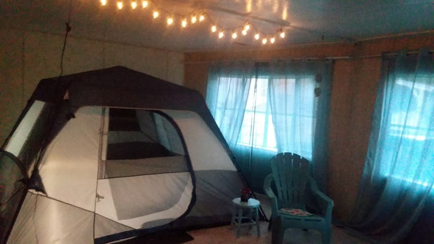 Woods,Waves & Wags * IndoorTent Camping*