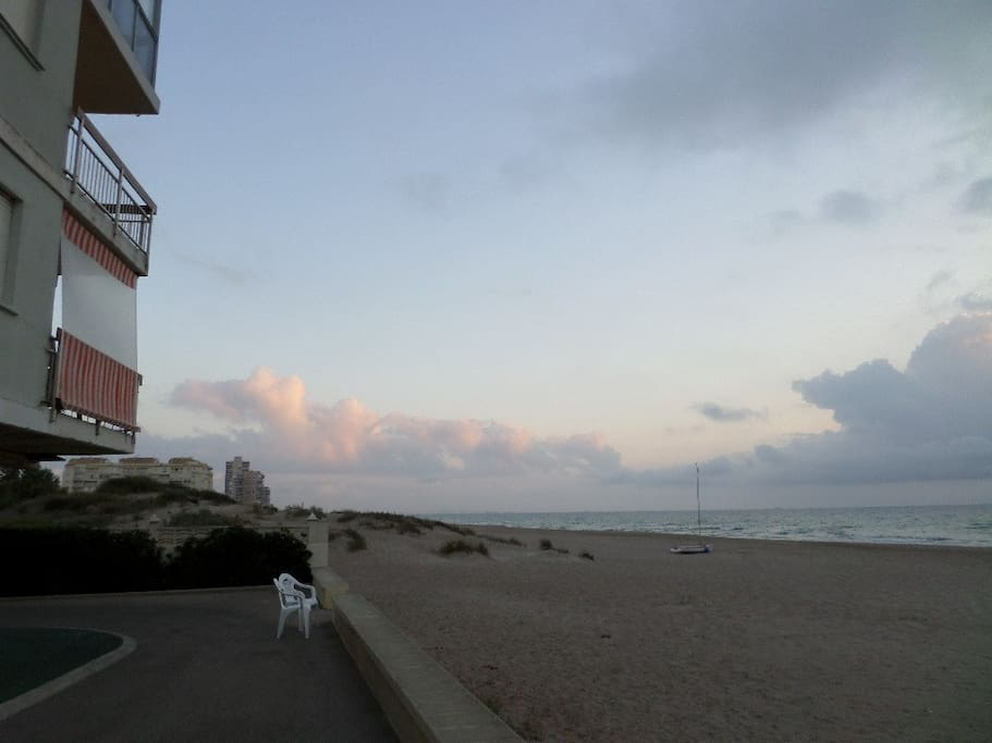 Vistas de la playa El recatti