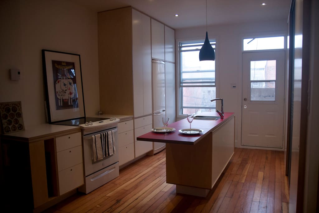 The apartment includes a stylish, efficient and fully equipped kitchen.