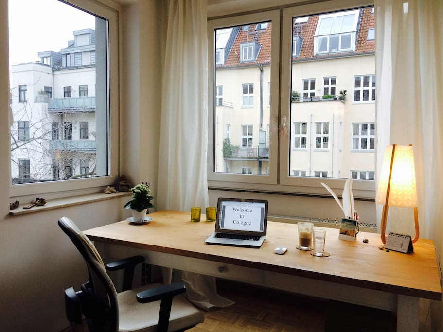 working place with a view