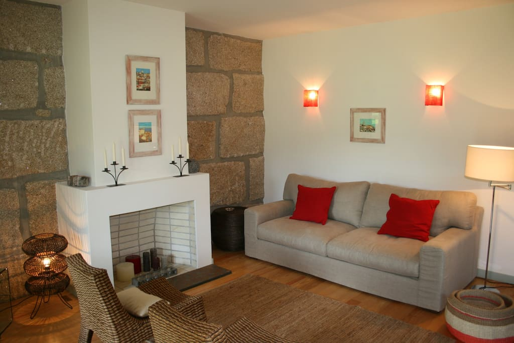 River's House, living room -  one of the three houses of CASA DA VEIGA