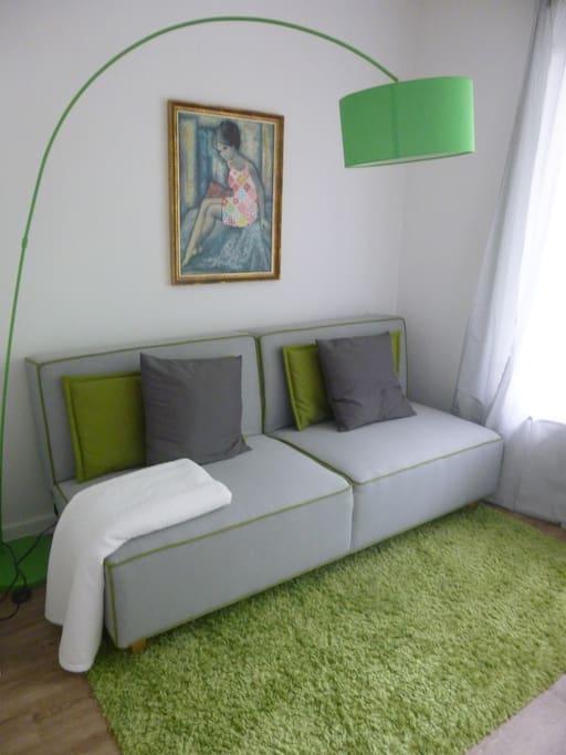 gr ner salon bed breakfasts for rent in hamburg. Black Bedroom Furniture Sets. Home Design Ideas