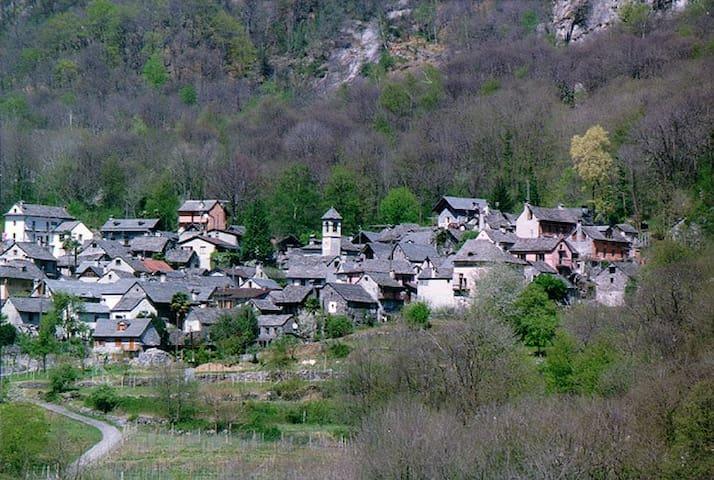 Gemütliches Rustico im Maggiatal (Tessin) - Avegno - บ้าน