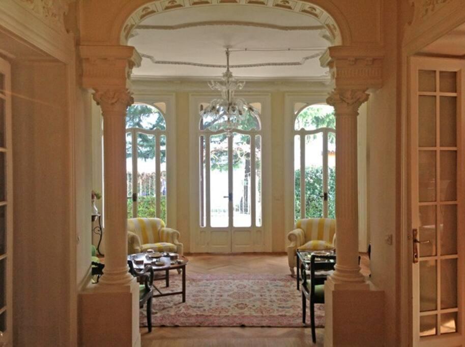 Laglio villa, on the Lake of Como, living area