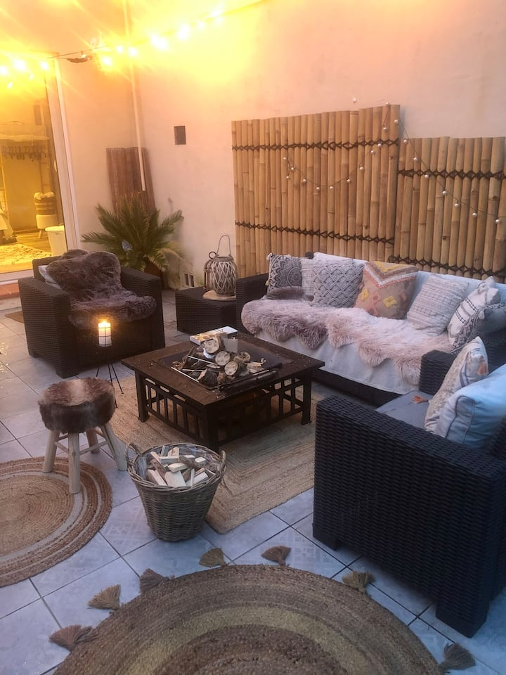 Studio luxe cosy, terrasse jacuzzi privé Sanary