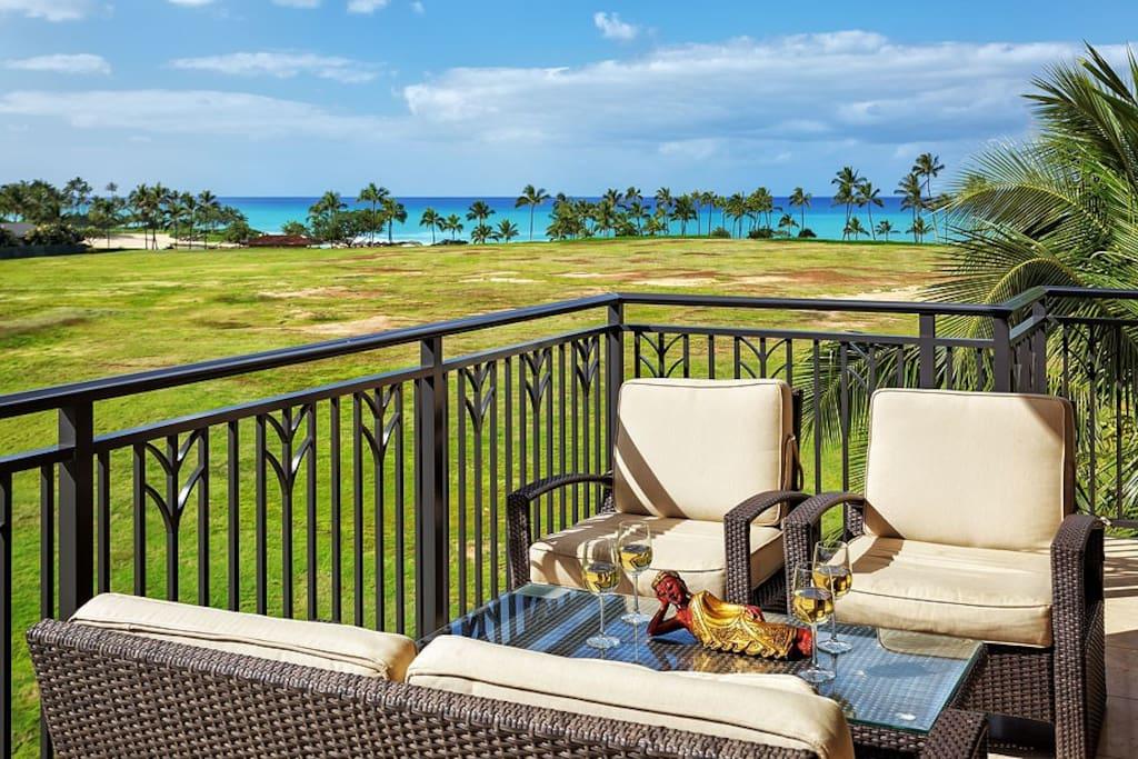 Ko Olina Beach Villa lanai and view