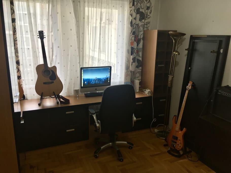 Desk, workspace