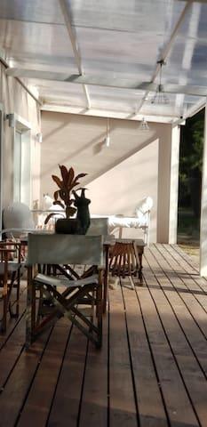 Deck principal, soleado en invierno