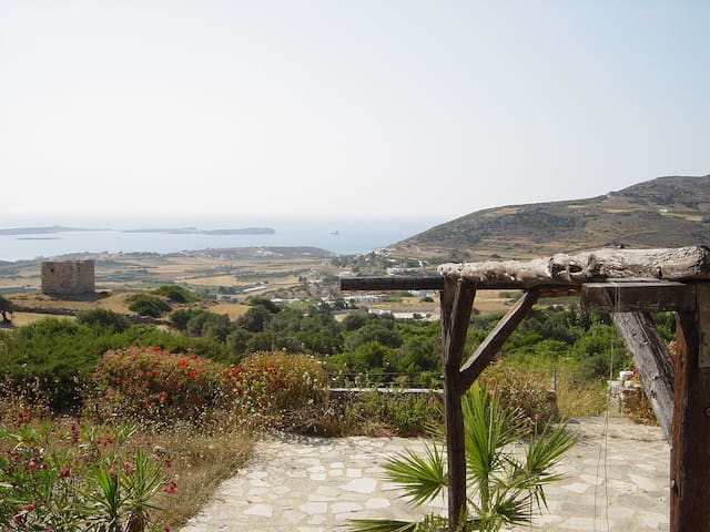 butterflyhouse with fantastic view - Paros,  Butterflyvalley - Villa