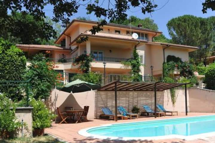 Villa l'Uliveta: spacious villa with private pool.