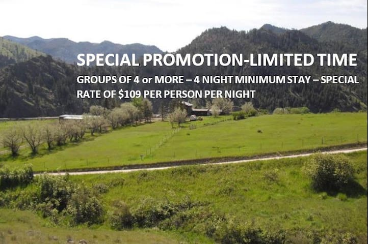 $125 Per Person-Includes All 3 Meals--Licensed B&B