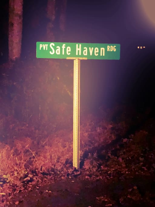 Our private street name truly matches our private and safe, relaxing get away!