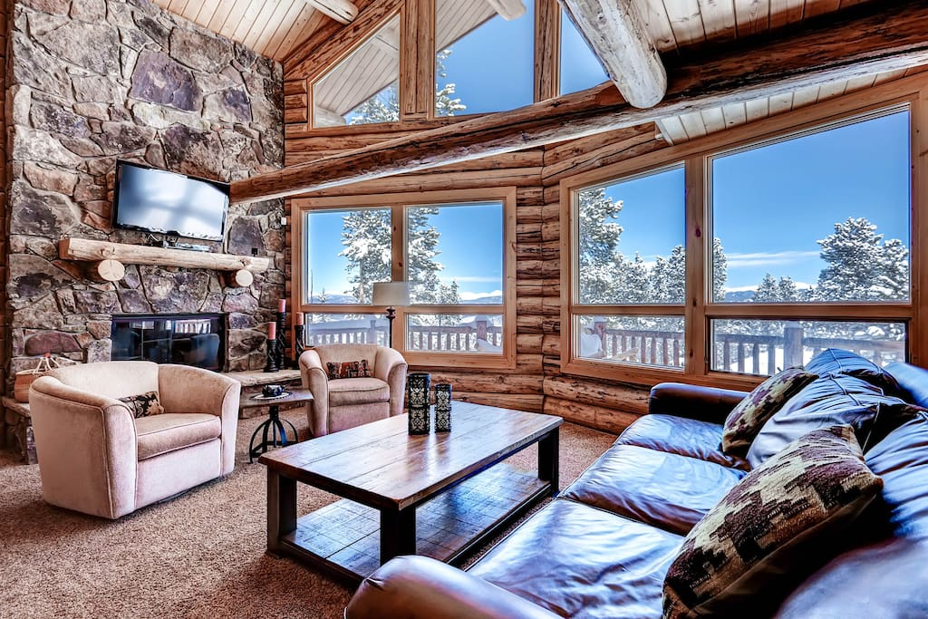 Watch a movie or enjoy a roaring fire with nature by your side.