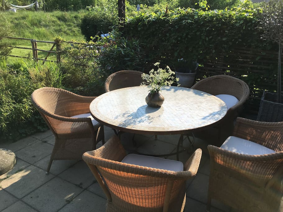 French terrace table with chairs