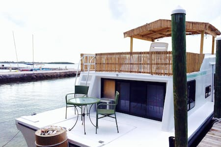 houseboat in paradise with beach - Key Largo - Boot