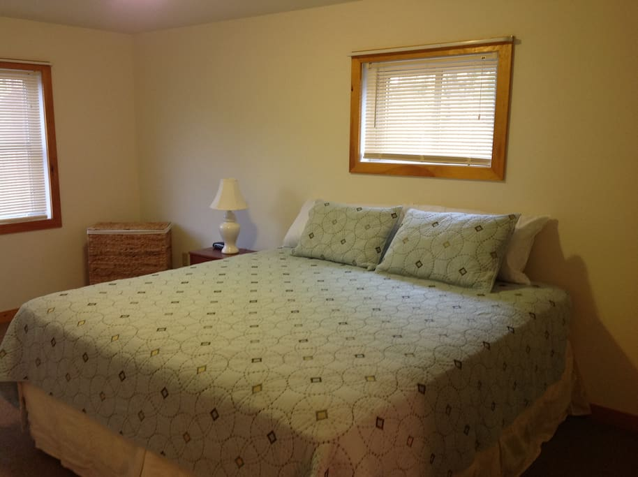 Separate bedroom w/new king size bed