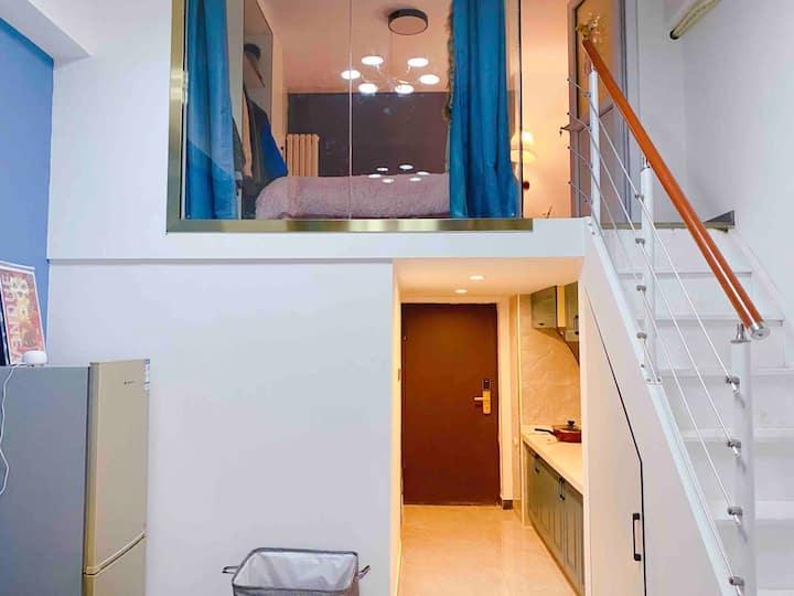 *给您家的感觉*地铁口全新loft两室一厅复式公寓
