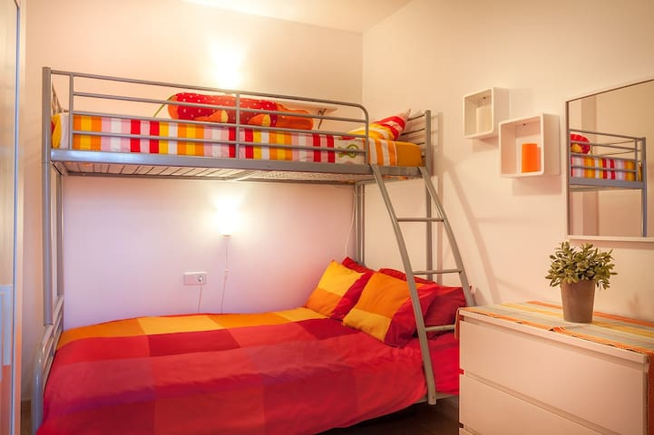 The 3rd bedroom has a small utility room off it which houses a washing machine.