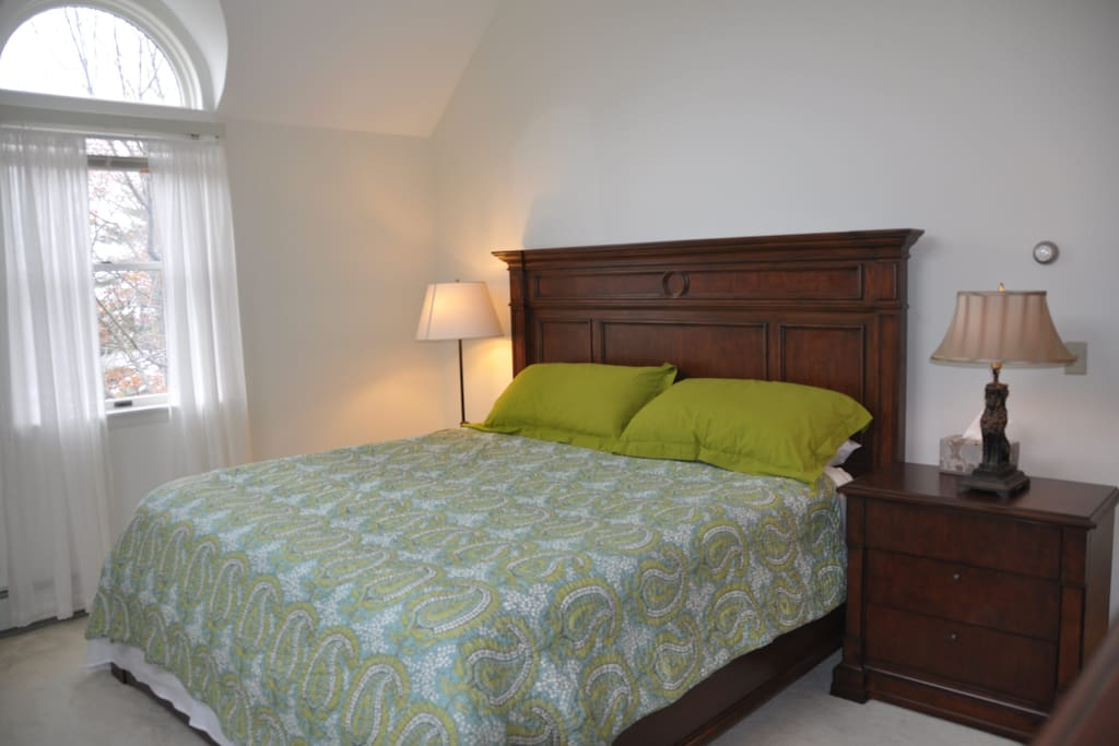 Comfortable master bedroom with King bed