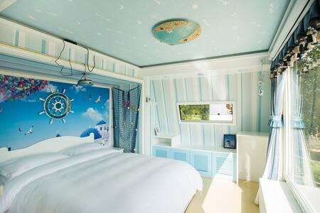 地中海风情大床房 - Yuxi Shi