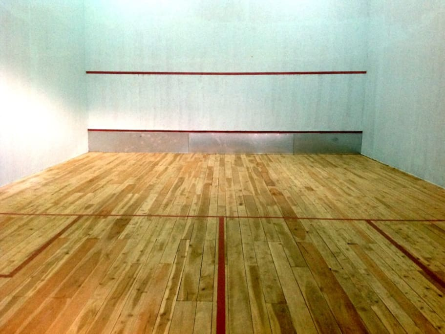 View of the squash court