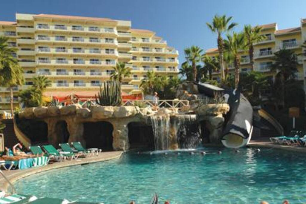One section of main pool area at Villa del Palmar