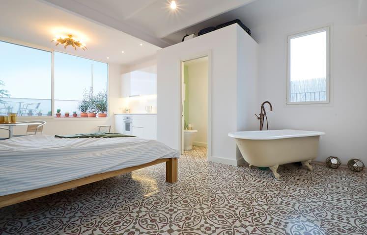 Penthouse de luxe: centre et proche de la plage
