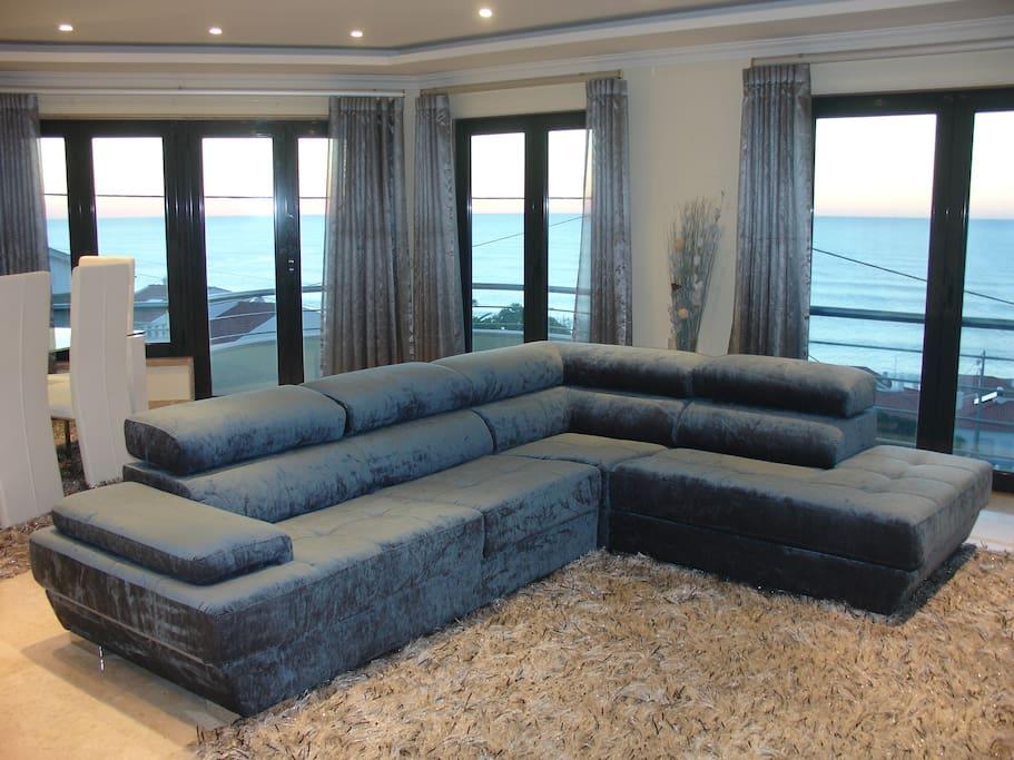 Vista de mar da sala