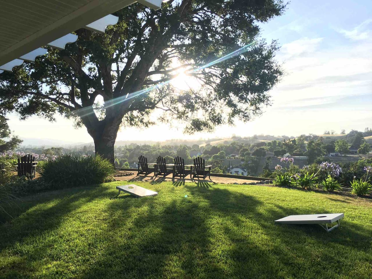Enjoy the view with a cup of coffee, or wait for the gorgeous sunset with a glass of wine