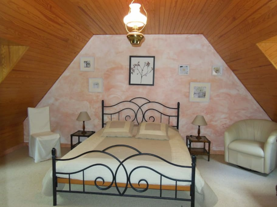 Votre chambre avec un lit de 160