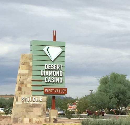 Desert Diamond Casino located at north of Westgate District.