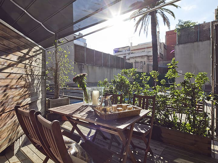 Duplex Apartment for Rent in Barcelona with Pool