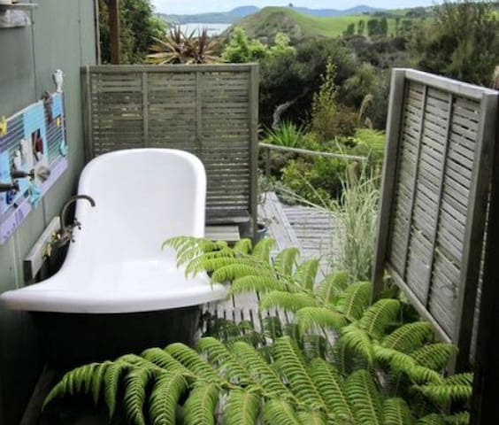 Relax on Kaipara harbour, Bush & water views