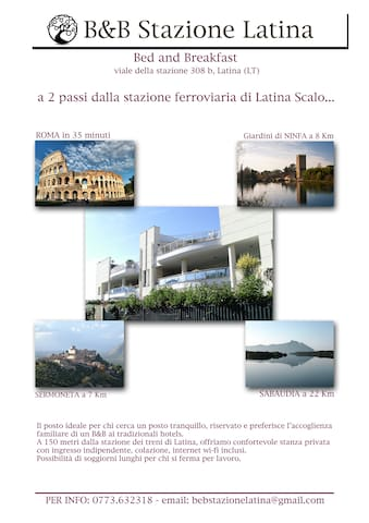 "B&B ""Stazione Latina"" a due passi dalla stazione.. - Latina Scalo - Bed & Breakfast"