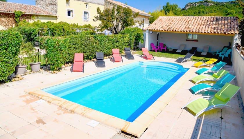 Gîte ROMARIN 4 pers, piscine chauffée