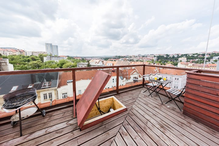 Charming Duplex Apartment · Super Terrace · AC