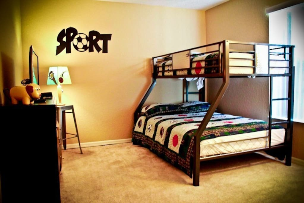 Bedroom 1 - The boys will love this!